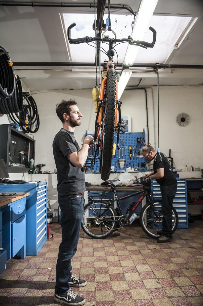 Pierre & Adriaan in het atelier